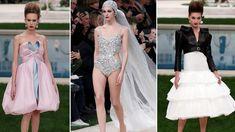 Viktoriánský punk a svatební plavky místo šatů. Takhle Chanel vidí letošní jaro/léto Prom Dresses, Formal Dresses, Chanel, Punk, Fashion, Dresses For Formal, Moda, Formal Gowns, Fashion Styles