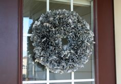 Fall Wreath {Plastic Tablecloth Wreath}  This is genius!!