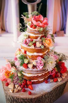 15 wedding reception trends for 2015 | Naked cakes || Amara • Bridal Registry • ||