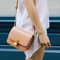 The buttery natural leather is a perfect go-anywhere-with-anything bag.