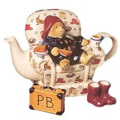 There's not a book big enough or a PB and banana sandwich big enough to satisfy me. There's not a book big enough or a PB and banana sandwich big enough to satisfy me. Have A Nice Afternoon, Teapots Unique, Paddington Bear, Cuppa Tea, Tea Pot Set, Fun Cup, Teapots And Cups, My Cup Of Tea, Chocolate Pots