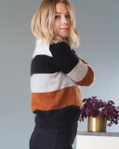 Ravelry: Christelsweater pattern by Pia Marlene Øye Amundsen Circular Needles, Needles Sizes, Angeles, Stockings, Feminine, Turtle Neck, Pullover, Knitting, Lace