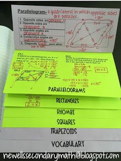 Free Quadrilaterals Foldable Flipbook