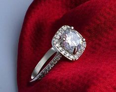 Elegant Affordable Custom Moissanite by SolitaireRingJeweler Wedding Bands, Wedding Ring, Antique Rings, Solitaire Ring, White Gold Rings, Moissanite, Heart Ring, Gifts For Her, Engagement Rings