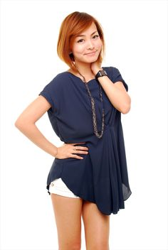 Bow Waist Top (blue) S$25.00 from: Woods