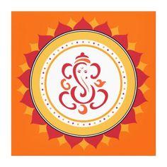 Shop Modern Ganesha Wrapped Canvas Wall Art created by mistyqe. Ganesha Drawing, Lord Ganesha Paintings, Ganesha Art, Krishna Painting, Ganesha Rangoli, Ganesh Tattoo, Shri Ganesh, Madhubani Painting, Shree Krishna