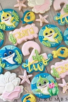 """Just Like the Song, You Won't Be Able to Get These """"Baby Shark"""" Birthday Party Ideas Out of Your Head - Ansley Easterwood - Birthday Party 2nd Birthday Party For Girl, Leo Birthday, Circus Birthday, Circus Party, Birthday Ideas, Baby Hai, Shark Cookies, Hawaiian Party Decorations, First Birthdays"""