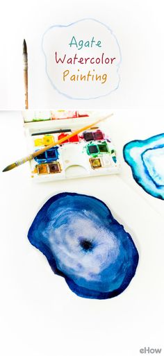 Agate is a banded form of quartz with many beautiful colors and patterns. Watercolor serves as the perfect medium to capture its translucency and uniquely shaped form, as each layer of paint blends with the previous layer to form a beautiful and interesting piece of art. Learn how to do it here: http://www.ehow.com/how_12343185_diy-agate-watercolor-painting.html?utm_source=pinterest.com&utm_medium=referral&utm_content=freestyle&utm_campaign=fanpage