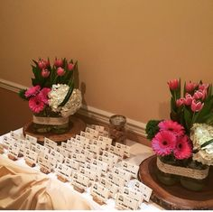 Bridal shower seating arrangements and flowers. Wine corks, daisies, hydrangeas and lace!