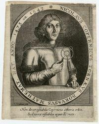 Portret Mikołaja Kopernika z układem heliocentrycznym - Meurs, Jacob van (1619-1680)