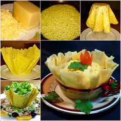 Make These Yummy Edible Cheese Salad Bowls for Dinner