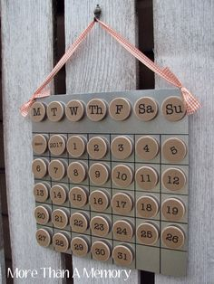 Your place to buy and sell all things handmade Classroom Calendar, Classroom Themes, Months In A Year, Year 6, 12 Months, Pallet Crafts, Wood Crafts, Metal Board, Perpetual Calendar