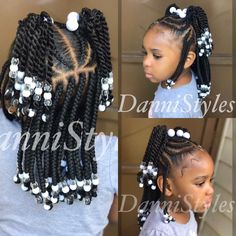 Little Girls Natural Hairstyles, Toddler Braided Hairstyles, Black Kids Hairstyles, Baby Girl Hairstyles, Little Girl Braids, Braids For Kids, Toddler Braids, Kid Braid Styles, Kid Styles