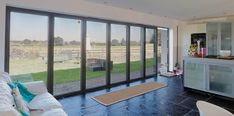 7 Pane bifold doos viewed from inside