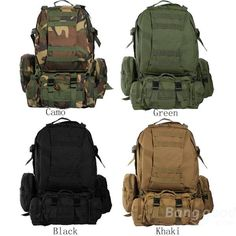 EU Direct | Camo Military Rucksack Outdoor Tactical Backpack Travel Camping Bags