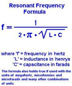 Resonant Frequency Formula. #engineeringstudents