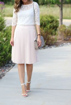 Blush skirt + lace