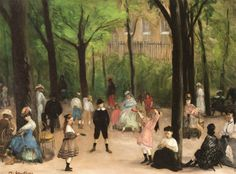 William Glackens - In the Luxembourg Gardens (1906)