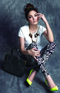 I need black and white print pants. get in my closet.!
