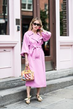 Pink trench coat | For more style inspiration visit 40plusstyle.com