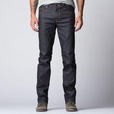Mens Slim Raw Jeans In Dark Indigo Japanese Raw Denim X Kurabo M Ills | DSTLD Luxury Jeans & Essentials | No Retail Markup