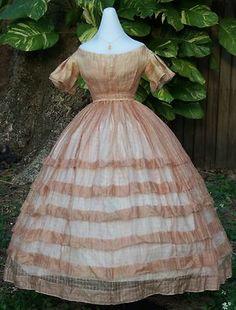 Original Pre Civil War Ball Gown C 1856 1858 | eBay