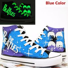 The Beatles Shoes Galaxy Background Hand Painted by CrazyPoem
