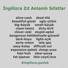 English Time, English Words, Learn English, English Language, Language Arts, Education Humor, Art Education, Special Education, Turkish Lessons