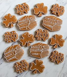 Favorite Gingerbread Cookies for Notre Dame college finals