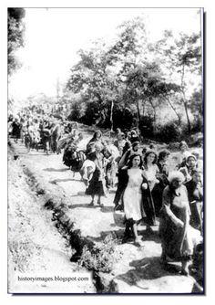 Jews being led to Babi Yar. Kiev. September 1941