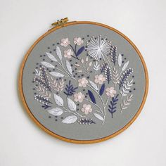 9 Decor Hand Embroidery Floral Wall Art Floral Hoop