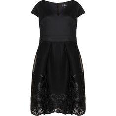 Lovedrobe Black Plus Size Embroidered dress ($120) ❤ liked on Polyvore featuring dresses, black and plus size