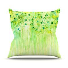 Kess InHouse Louise Ornament Pastel Gold Blue 26 x 26 Square Floor Pillow
