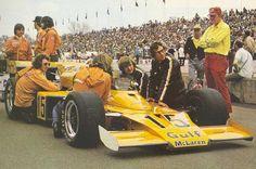 Peter Revson - McLaren M16C [2] Offenhauser 159 ci turbo - McLaren Cars - International 500 Mile Sweepstakes - 1973 USAC National Championship Trail, round 4
