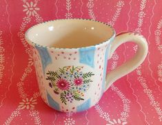 Nantucket Mermaid: More Hand Painted Mugs
