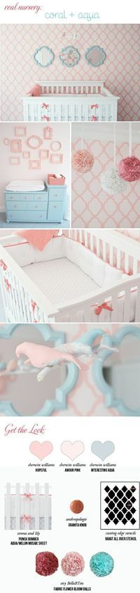 @Heather Creswell Weihman Coral and Aqua Girl Room - can this be my next nieces room please??