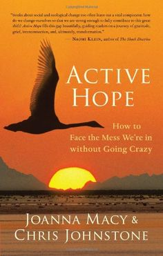 Active Hope: How to Face the Mess We're in without Going Crazy by Joanna Macy. The challenges we face can be difficult even to think about. Climate change, the depletion of oil, economic upheaval, and mass extinction together create a planetary emergency of overwhelming proportions. Active Hope shows us how to strengthen our capacity to face this crisis so that we can respond with unexpected resilience and creative power.