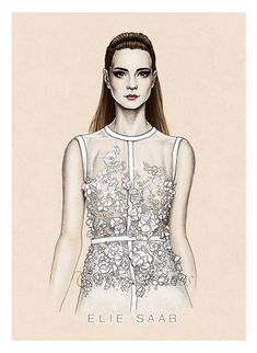 Fashion Illustration: Elie Saab  SS14 by Tania-S.deviantart.com on @deviantART