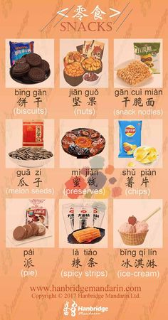 Snacks in Chinese