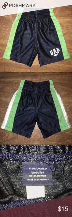 GAP Toddler Boys Athletic Shorts GAP Toddler Boys Athletic Shorts Size 18-24mo. Worn 1x, still in Excellent Like New Condition. See Pictures for Details.🌹 Don't forget to look at my other items! 💕Bundle & $ave💕 If over 5 lbs, Extra Shipping Fees Apply. I can let you know your Bundle weight before you purchase! Just ask! 😊 GAP Bottoms Shorts