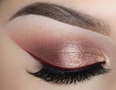 We are all about the red shades lately! This 'Rose & Red Cat Eye' is no different. Pair a bold red liner with rose gold eyeshadow to create a more wearable yet unique look! CLICK to learn the steps and products used to recreate this showstopper by Stephanie Nicole.