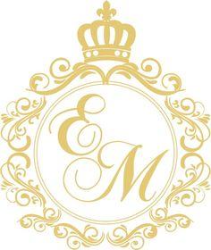 Wedding Logos, Monogram Wedding, Monogram Logo, Monogram Wallpaper, Tiny Heart Tattoos, Lashes Logo, Logo Design, Crown Logo, Silhouette Curio