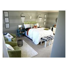 Funky Fresh Master Bedroom ❤ liked on Polyvore featuring home, home decor, house and funky home decor