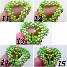 -3 Beading Patterns Free, Beaded Jewelry Patterns, Fabric Jewelry, Seed Bead Crafts, Seed Bead Jewelry, Baubles And Beads, Beaded Ornaments, Earring Tutorial, Bracelet Tutorial