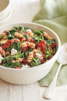 Broccoli Rabe, Feta & Mint Pasta