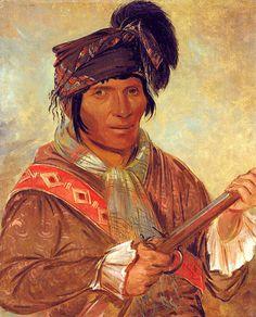 Seminole Chief  Coeehajo, George Catlin, 1837