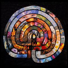 Beautiful labyrinth collage