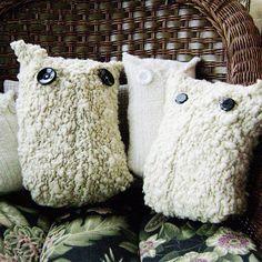 Sweater owls #DIY #owl #sweater #project