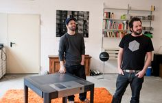 Axel van Exel and Marian Neulant Ping Pong Table, Studios, Van, Architecture, People, Furniture, Design, Home Decor, Arquitetura