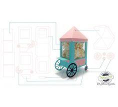 molde carrinho de pipoca de papel - Pesquisa Google